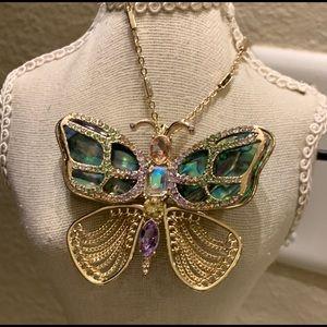 Betsey Johnson! Statement Butterfly Pendant/Brooch